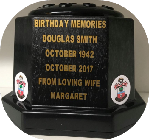 Southampton F. C. football personalised Grave pot